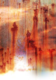 A pattern of rust on a surface Stock Photography