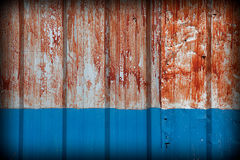 Pattern of rustic zinc fence Stock Images