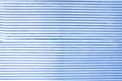 Pattern of rustic zinc fence in blue color Royalty Free Stock Photography