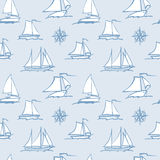 Pattern of  sailboats Royalty Free Stock Photos