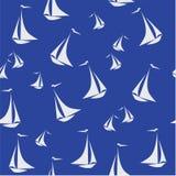 Pattern Sailing boat. Vector illustration. Stock Images