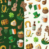 Pattern for saint patrick day with traditional iri Royalty Free Stock Image