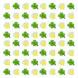 Pattern Saint Patrick`s Day. 8-bit Royalty Free Stock Images
