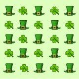 Pattern Saint Patrick`s Day. 8-bit Stock Photos