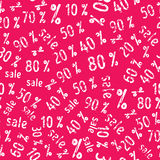 Pattern Sale Sign With Various Percentage Symbols Stock Image