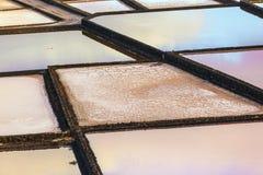 Pattern of Salt refinery, Saline from Janubio, Lanzarote Royalty Free Stock Images