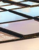 Pattern of Salt refinery, Saline from Janubio, Lanzarote Royalty Free Stock Photography