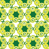 Pattern same as  yellow and green flower Royalty Free Stock Photo