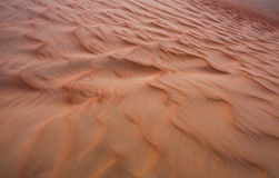 Pattern of sand dunes of Empty Quarter desert Stock Photos