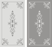 Pattern of sandblasted window Royalty Free Stock Photos