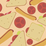 Pattern from sandwiches. Delicious beautiful pattern of sandwiches Royalty Free Stock Photos