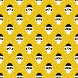 Pattern from Santa Claus with golden elements. Seamless pattern. Christmas and New Year. Royalty Free Stock Images