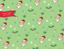Pattern santa clause christmas and snowman,doodle and vector vector illustration