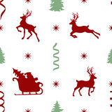 Pattern with Santa Royalty Free Stock Photography