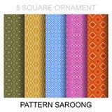 Pattern sarong Stock Photo