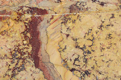 Surface of the Sarrancolin marble stone treated Royalty Free Stock Image