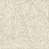 Pattern of schemes origami. In light brown colors Stock Photo