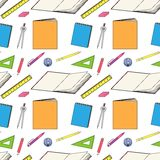 Pattern with school stationery Royalty Free Stock Photography