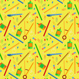 Pattern school supplies Royalty Free Stock Photography