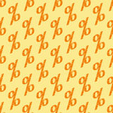 Pattern with scribbled percent sign Stock Photo