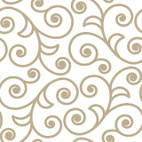 Pattern Scroll. Scroll shape ornate seamlees pattern background Royalty Free Stock Images