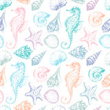 Pattern of the sea creatures Royalty Free Stock Photos