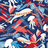 Pattern sea creatures Stock Photography