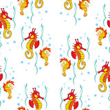 Pattern seahorses Stock Photography