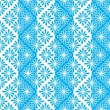 Pattern seamless abstract from flowers contours and stripes of blue and white. For the fabric, wallpaper, paper. Vector EPS10 Royalty Free Stock Photo