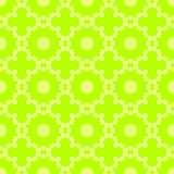 Pattern seamless abstract geometric bright. Circles, flowers, crosses. Gamma green, yellow. Illustration . Use for the site,. Printing paper cloth decoration Stock Illustration