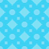 Pattern seamless abstract geometric bright. Cross, square, diamond, circle. Gamma blue. Illustration . Use for the site, pri Stock Images