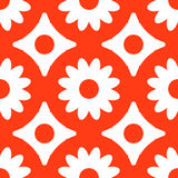 Pattern seamless abstract geometric bright. Flower, circle, diamond. Gamma red and white. Illustration . Use for the site, p Royalty Free Stock Images