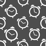Pattern seamless with alarm clock Royalty Free Stock Images