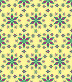 Pattern. Seamless background with geometric petal flower. vector royalty free illustration
