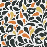 Pattern seamless with birds Stock Images