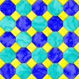 Pattern of seamless ceramic blue tile wall Stock Photos