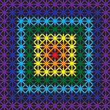 Pattern seamless of crosses of rainbow colors. Pattern seamless cross-shaped rainbow colors, for fabric and other uses, imitation embroidery, vector, EPS10 Royalty Free Stock Photos