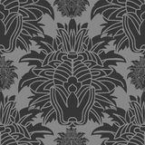 pattern  black flor for wallpaper Stock Photos