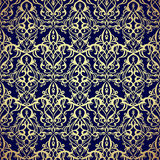 Pattern seamless with damask motifs. Royalty Free Stock Photos