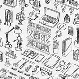 Pattern Seamless of Education workstation Stock Images