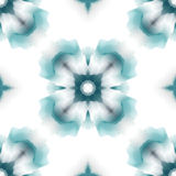 Pattern  seamless. Flower abstract blue Stock Image