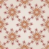 Pattern. Seamless flowers pattern of brown henna on beige background Stock Images