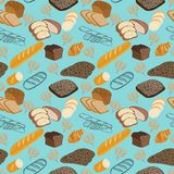 Pattern seamless Food doodles collection. Stock Photo