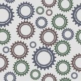 Pattern seamless gear Stock Photography