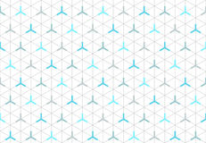 Pattern Of Seamless Isometric Hexagon Shapes 2. Pattern Of Seamless Isometric Hexagon Shapes with dots and lines in clean attractive arrangement and Corporate Royalty Free Stock Image