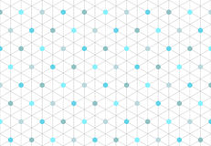 Pattern Of Seamless Isometric Hexagon Shapes 1. Pattern Of Seamless Isometric Hexagon Shapes with dots and lines in clean attractive arrangement and Corporate Royalty Free Stock Images