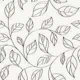 Pattern seamless leaves Royalty Free Stock Image