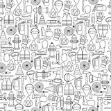 Pattern seamless of line firefighting equipment  illustration Stock Photos