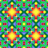 Pattern seamless multicolored, ornament from different shapes, geometric. For carpets, wrapping paper, decoration. Royalty Free Stock Photography