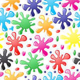 Pattern seamless of paints drops and blots Stock Images